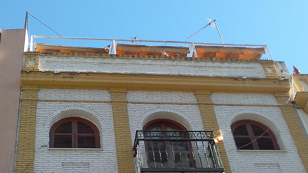 Rehabilitación de cornisa (calle Alemanes, Sevilla) - TTC Spain